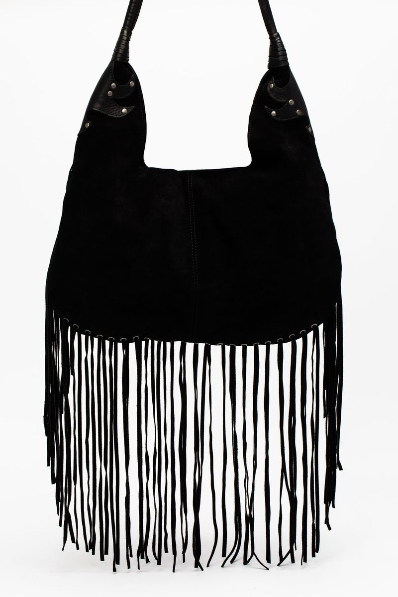 Can T Go Without It Fringe Hobo Bag In