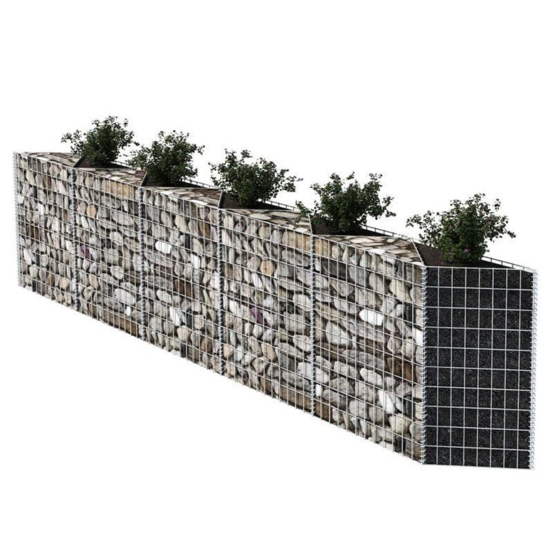 Gabion Planter Basket Planter Wire Wall Fence Mesh Flower Raised Steel Barrier Metal Planter Boxes Planter Boxes Metal Planters