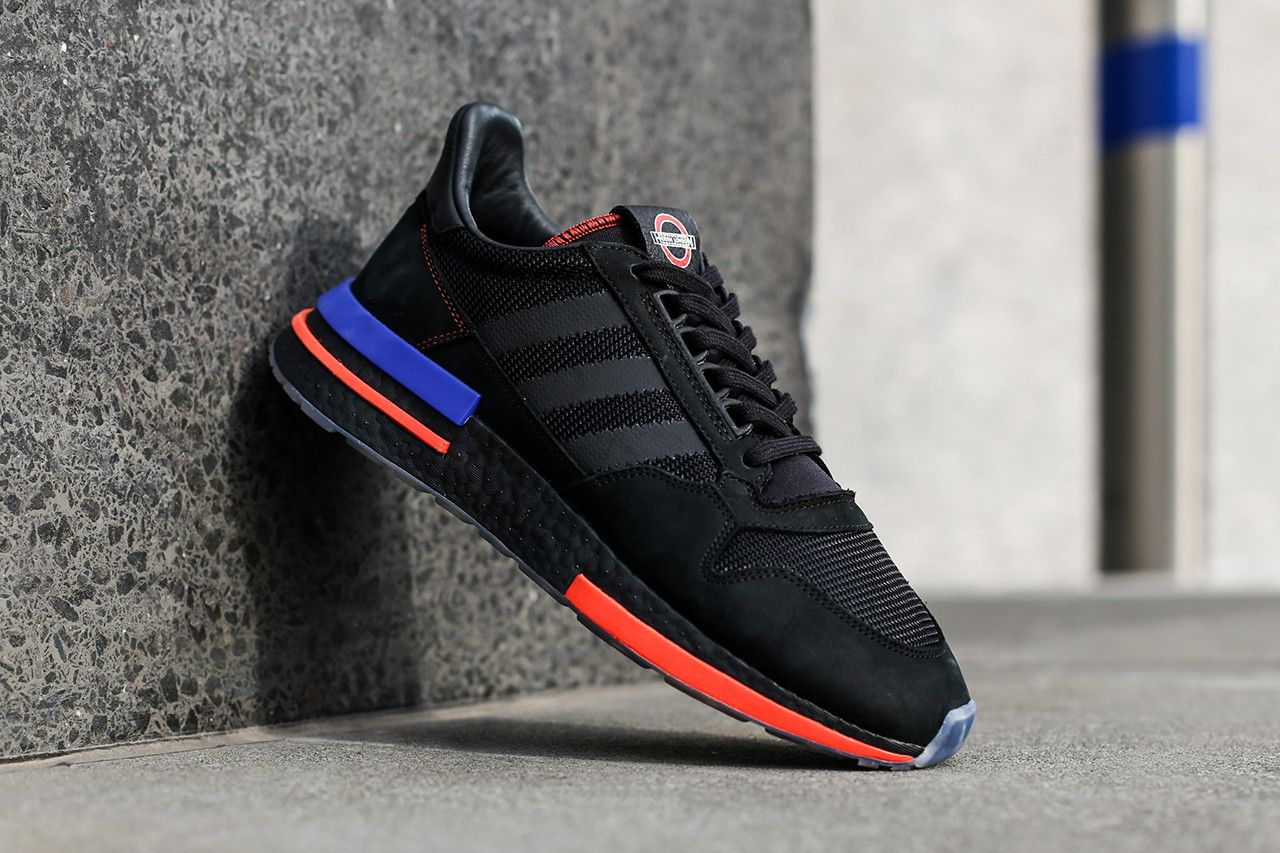 09691ddb1 adidas Originals x TfL Collaboration Closer Look Details Transport For London  Collab Collection Temper Run Continental 80 ZX500 RM Oyster Wallet Shoes ...
