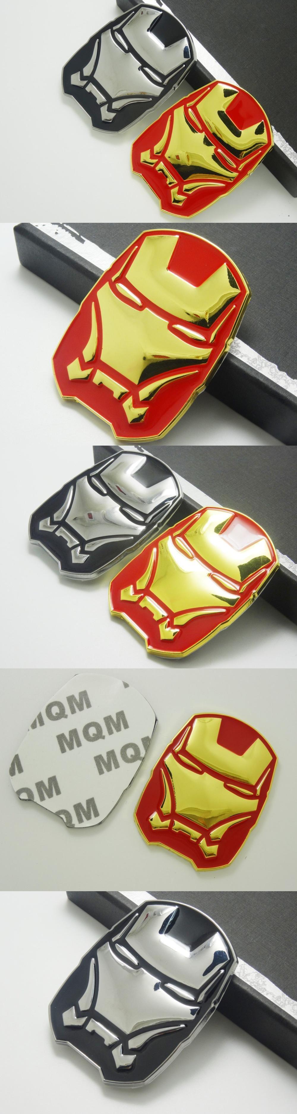 3d Chrome Metal Iron Man Car Emblem Stickers Logo Decoration The Avengers Car Styling Decals Exterior Accessories Exterior Accessories Car Emblem Accessories [ 3750 x 1000 Pixel ]