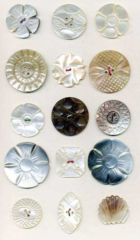 Vintage Mother Of Pearl Carved Buttons Vintage Buttons