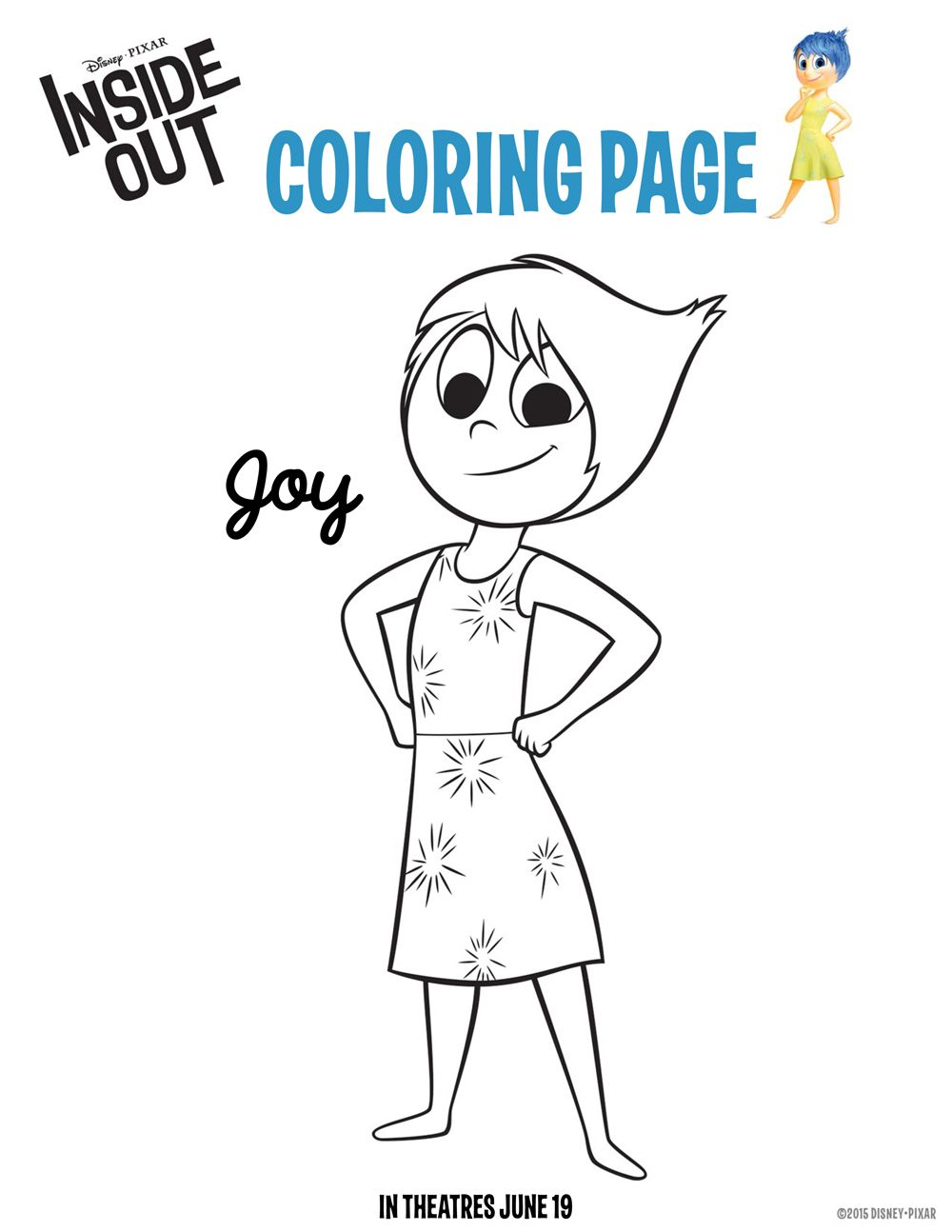 Superior Disney Inside Out Joy Coloring Page