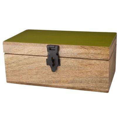 Decorative Storage Box Target Wood Green Rectangle