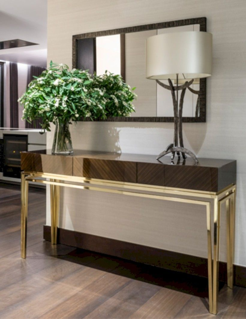 How To Furnish House With Modern Furniture: Entryway Console Table, Unique Console Table, Luxury Console