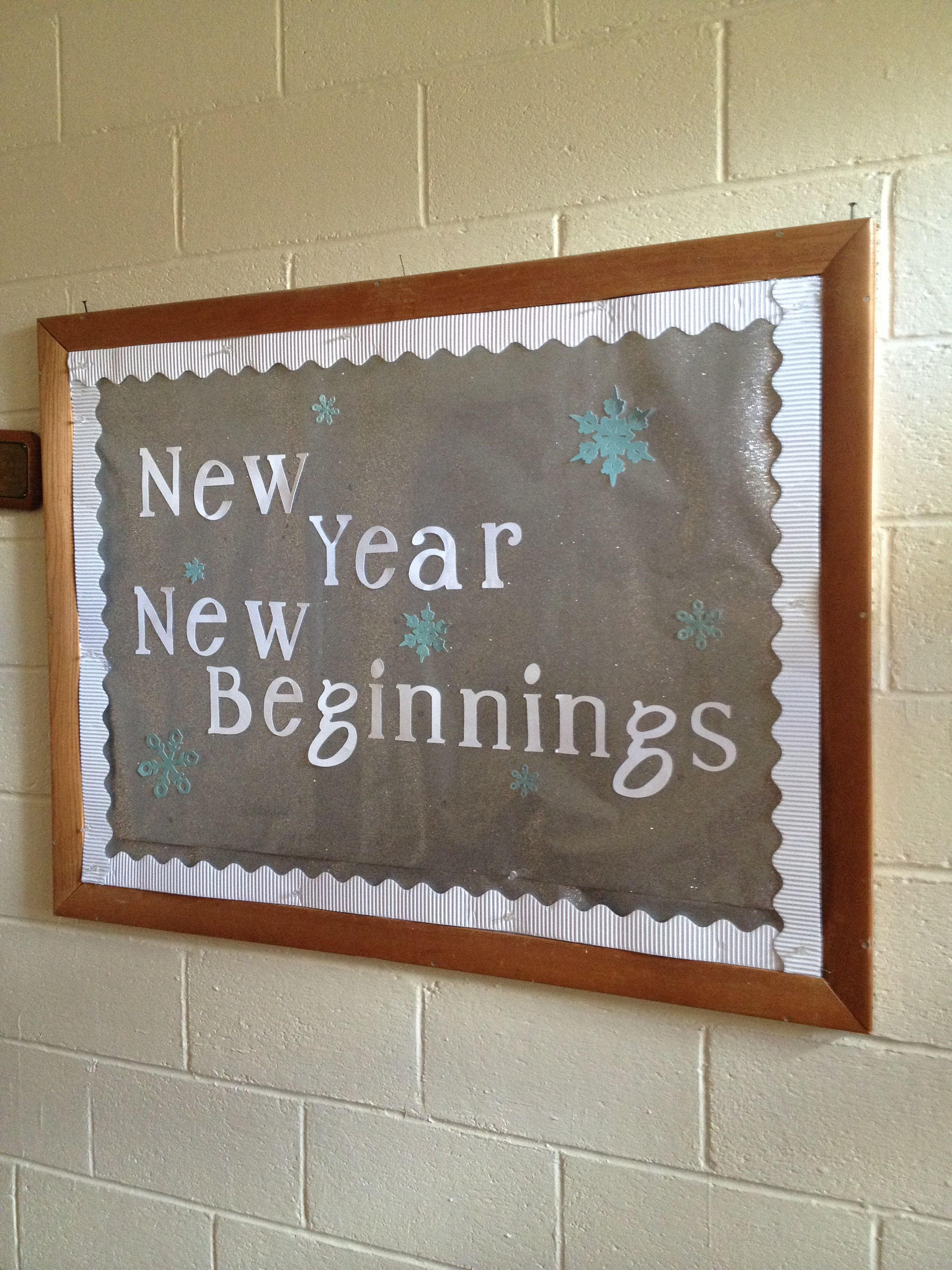 January Church Bulletin Board Simple