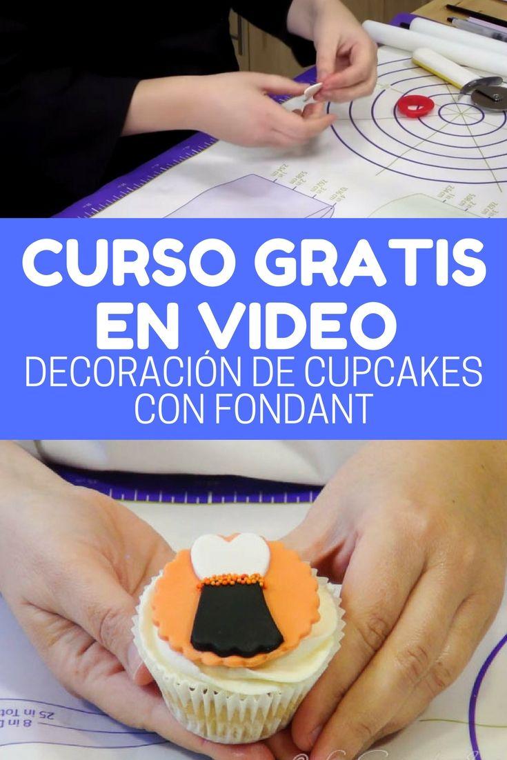 Curso en video decoración de cupcakes con fondant