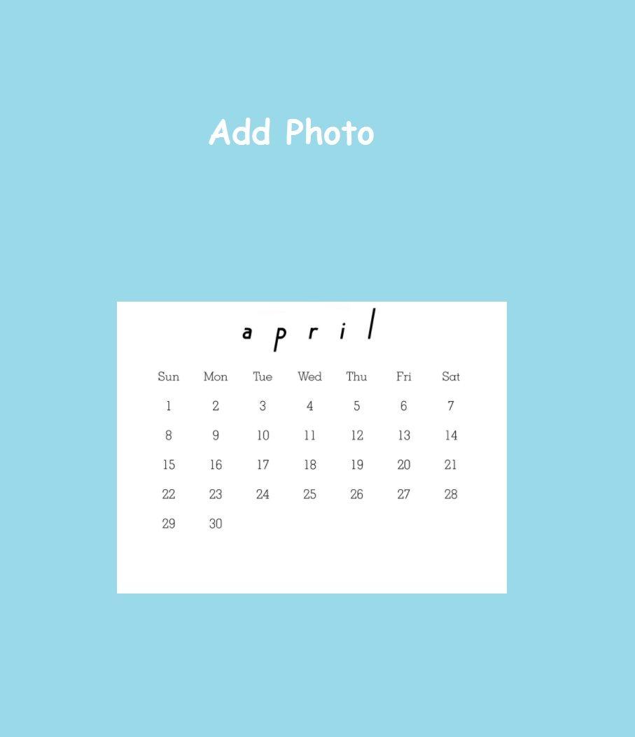 april 2018 photo calendar