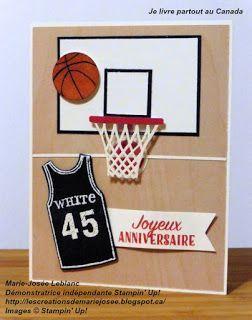Carte D Anniversaire Pour Un Joueur De Basketball Bricolagefetedesmeres Cadeau Carte Anniversaire Carte Anniversaire Garcon Carte Anniversaire Scrapbooking