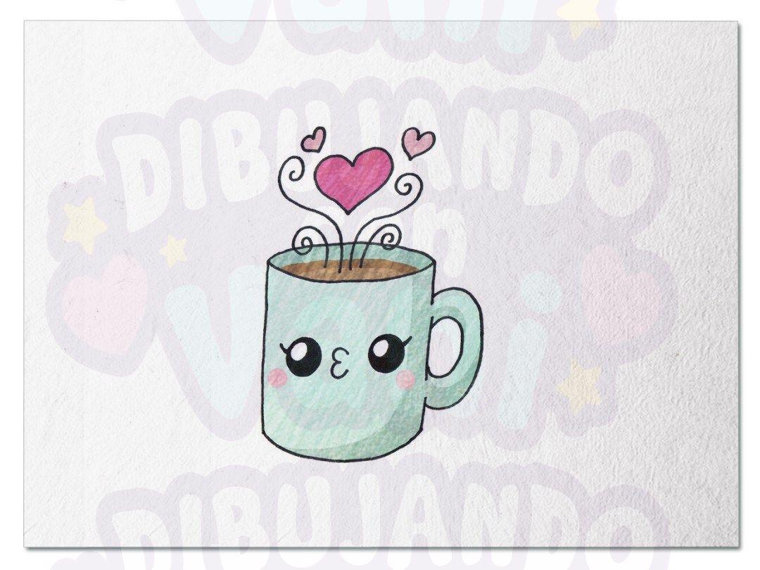 Taza Kawaii Taza Dibujo Dibujos Faciles Tazas De Cafe Dibujo