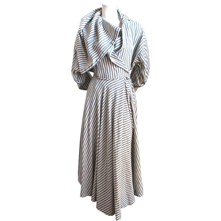 1stdibs - 1980's NORMA KAMALI draped wrap dress explore items from 1,700  global dealers at 1stdibs.com