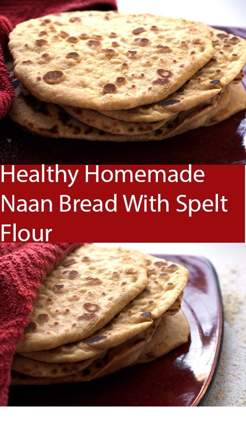Recipe for healthy homemade naan bread. The perfect side ...