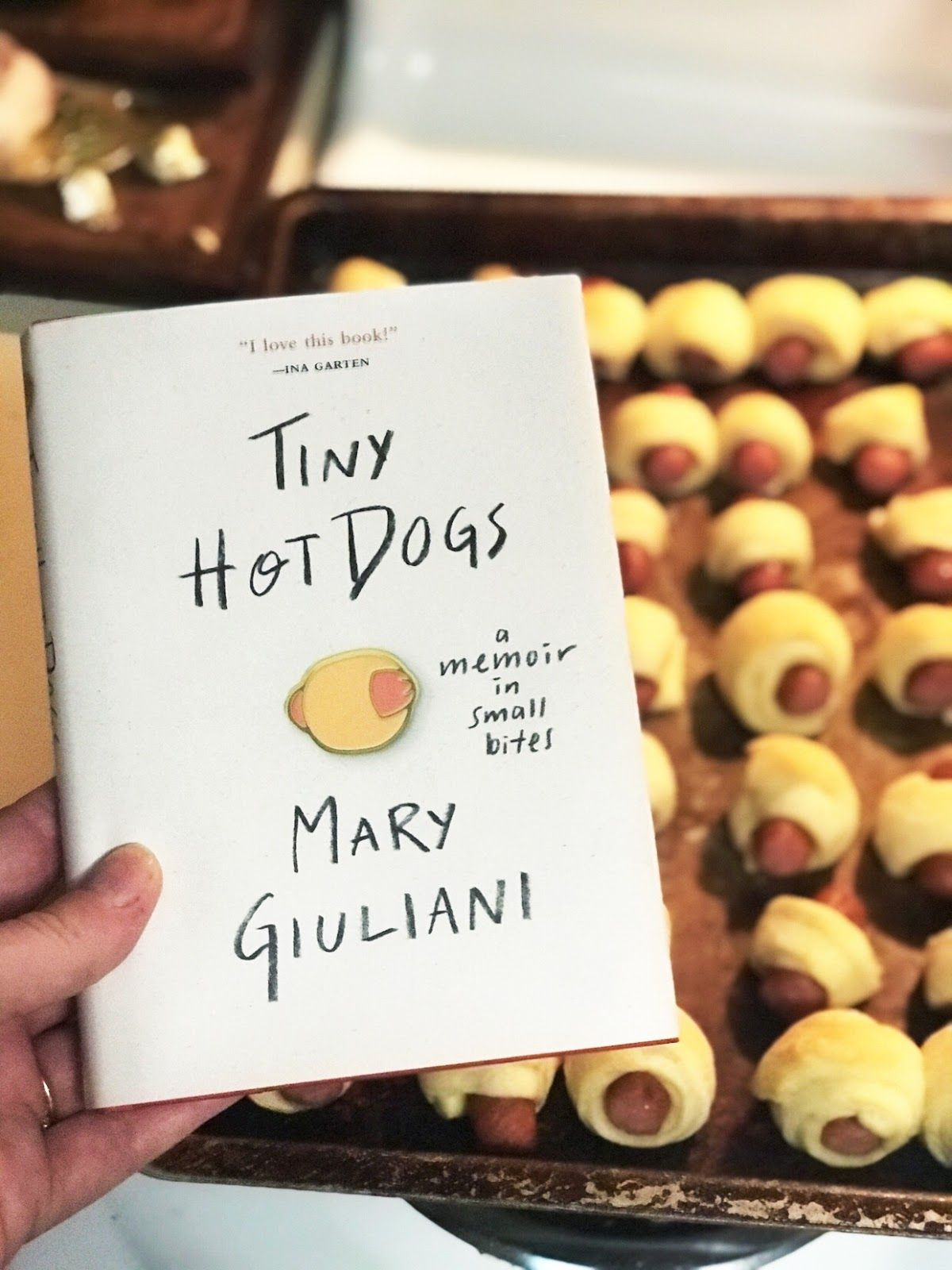 Book review tiny hot dogs a memoir in small bites by