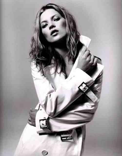Kate Moss. Classic trench