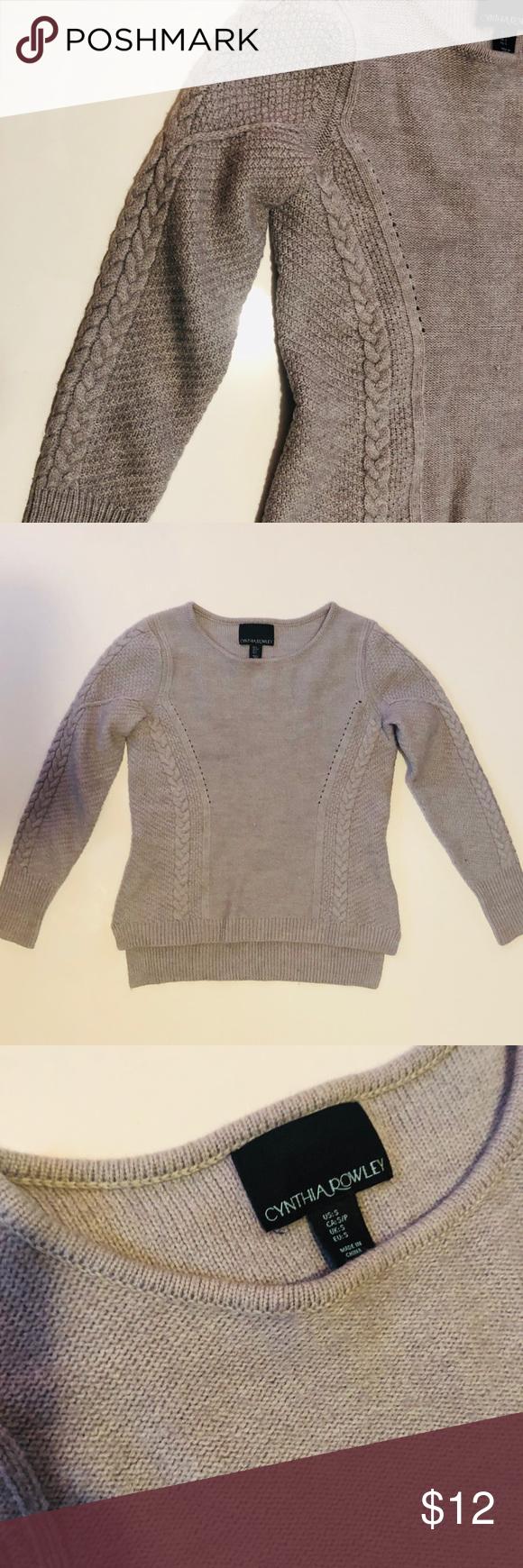 Cynthia Rowley Grey Sweater | Sweaters, Grey sweater
