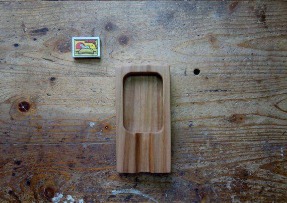 Handmade Wooden Ashtray Knick Knack Tray Cigar Ashtray Wooden Cigar Tray Wooden Tray Hand Carved Wood Tray Man Cave Gifts #knickknack
