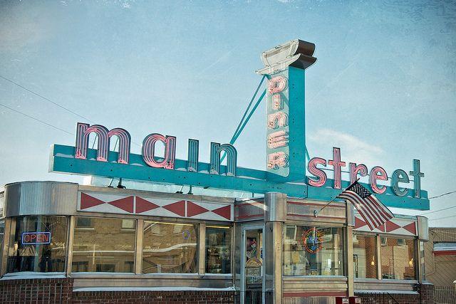 Main Street Diner Diner Vintage Diner Retro Diner