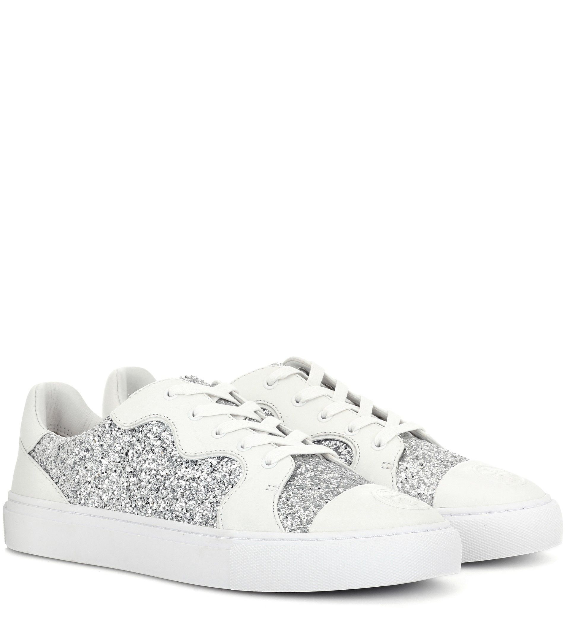 Milo glitter and leather sneakers