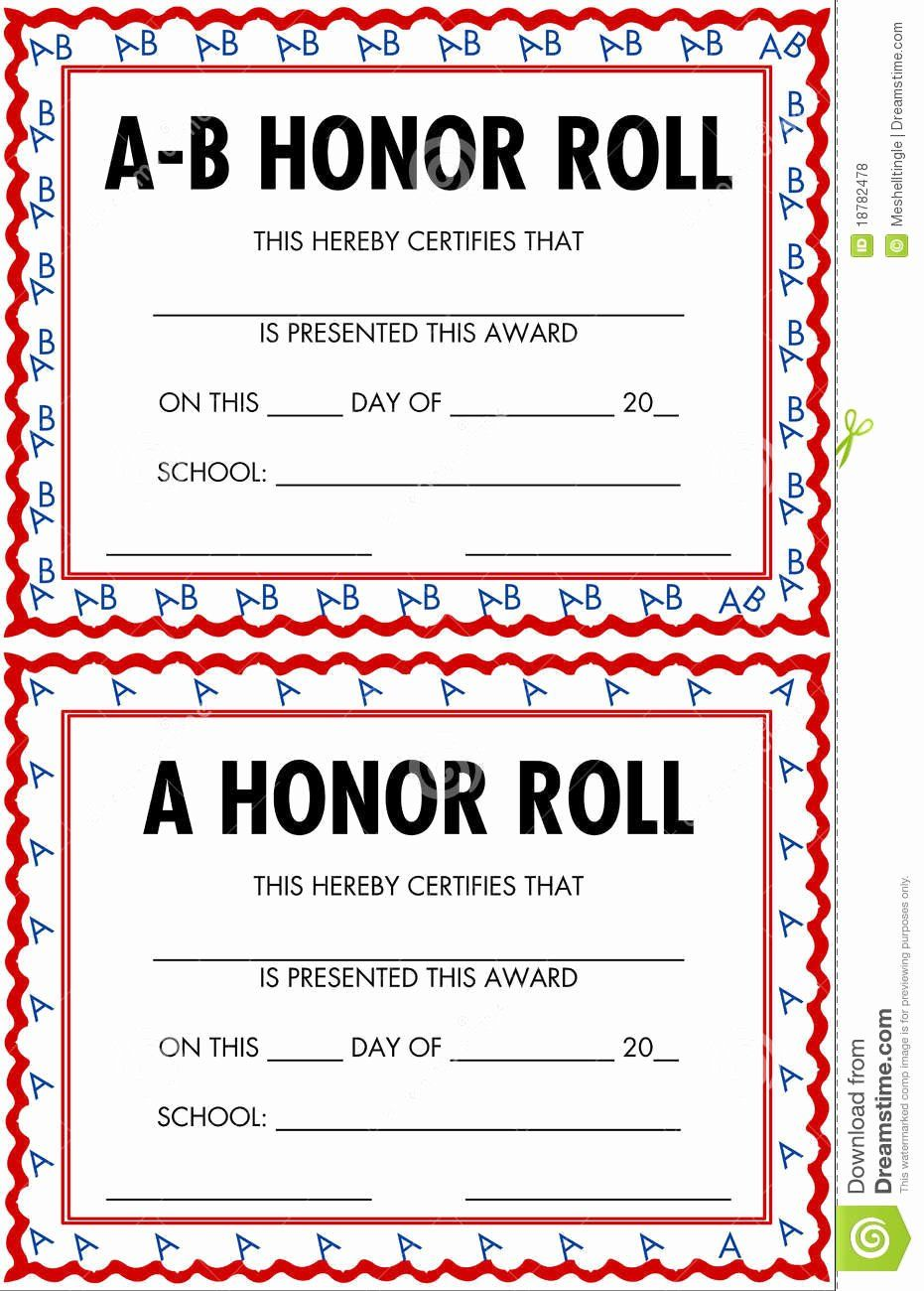 Ab Honor Roll Certificate Template Best Of Honor Roll Certificates Royalty Free Stock S Image Dannybarr Honor Roll Certificate Templates Certificate Template
