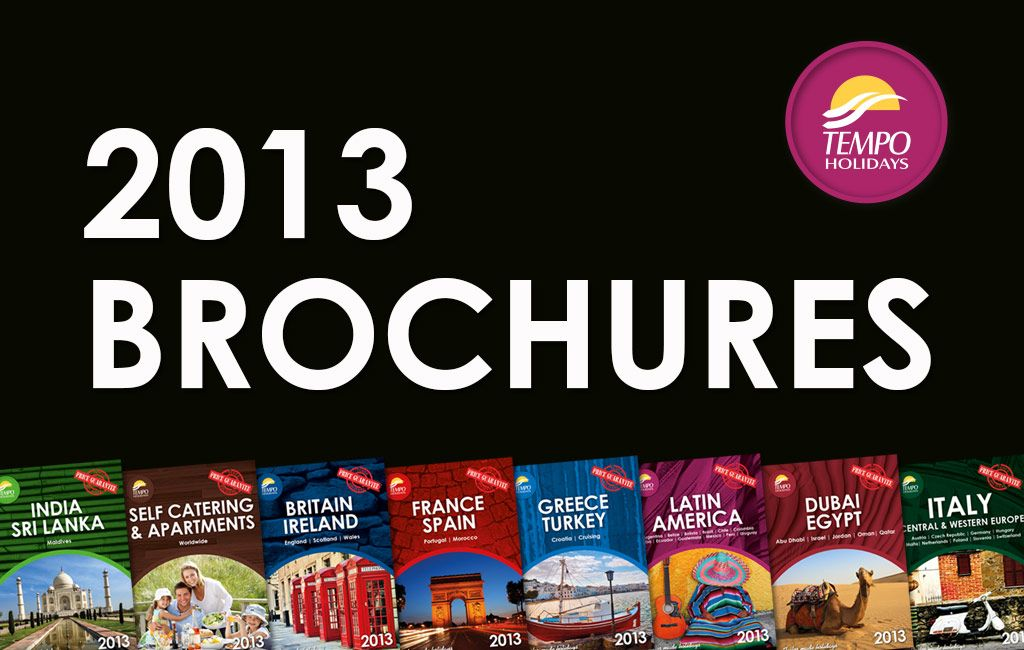 Our amazing range of brochures for 2013-2014.