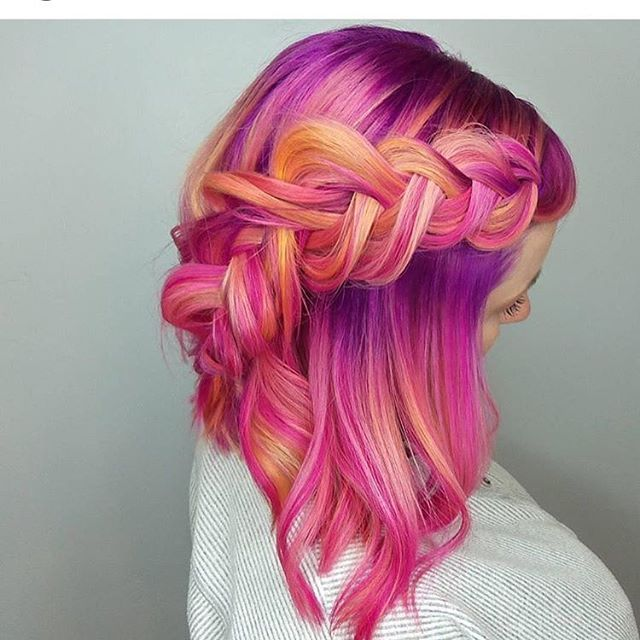 Sunrise haircolor by @serahdoeshairahh using Pulp Riot color. Tag #modernsalon today and get featured!
