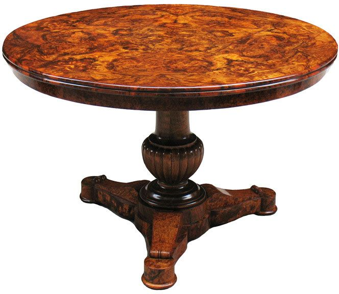 This Unequaled Biedermeier Center Table Is A True Masterpiece.