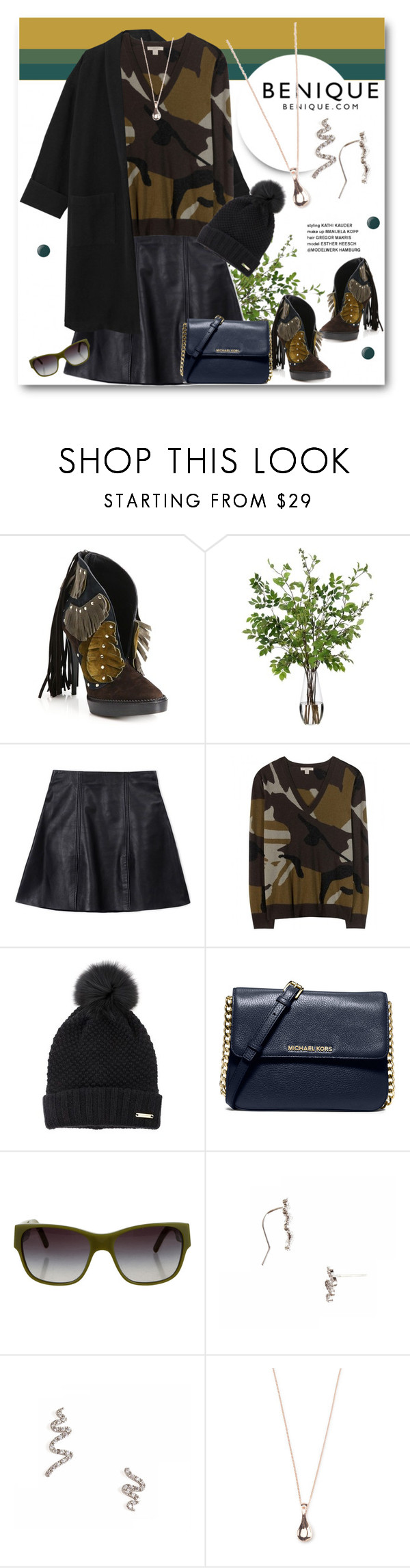 """BENIQUE"" by svijetlana ❤ liked on Polyvore featuring Burberry, Diane James, Acne Studios, MICHAEL Michael Kors, Essie and benique"