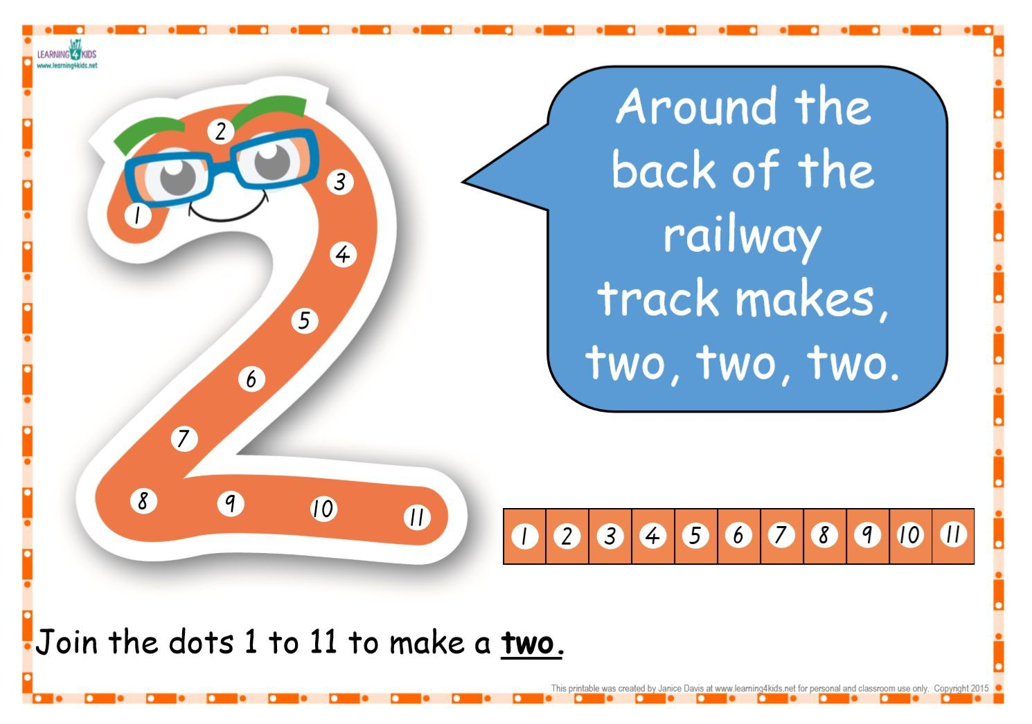 Dot-to-Dot Number Rhyme Charts (Standard Print) | Chart and Number