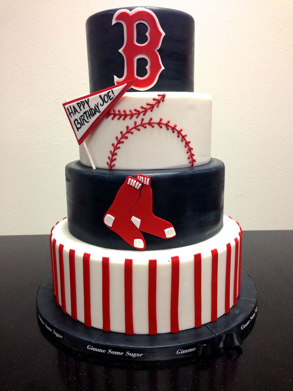Img 6800 With Images Red Sox Cake Baseball Birthday Cakes