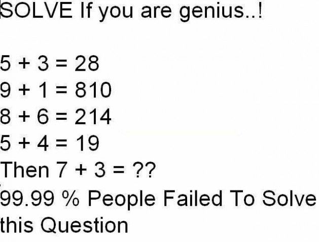 Solve if you are genius.. | Questions | Pinterest | Solve, If and ...