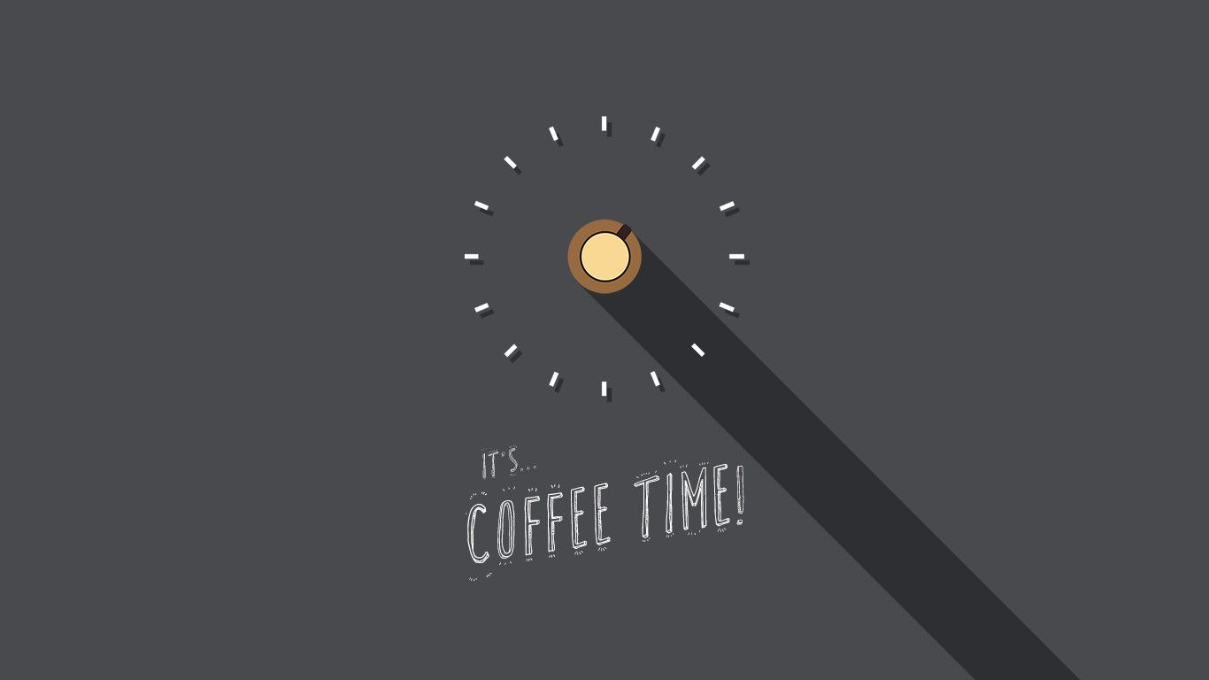 it's... COFFEE TIME! more #flatart i've made by myself (Jelle Koiter). proud of it! this is the #wallpaper one.