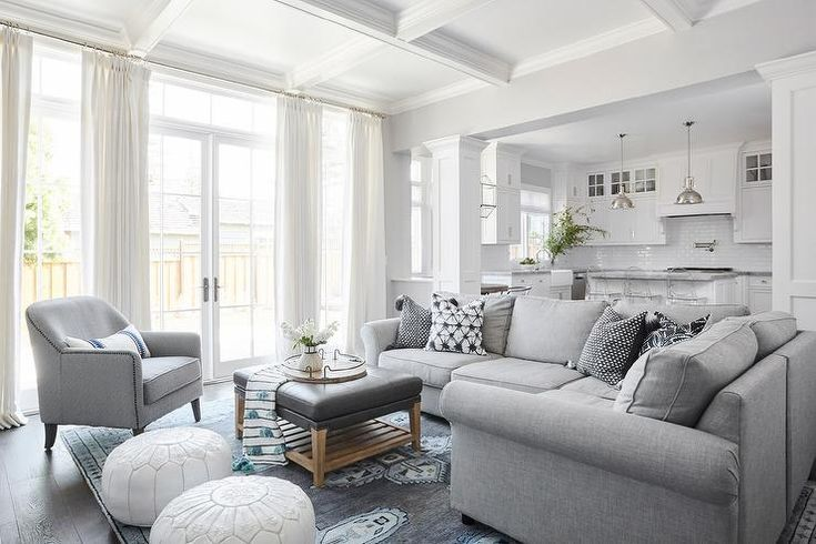 Best Gray Sectional With Gray And Blue Rug Transitional Living Room Living Sectional 400 x 300