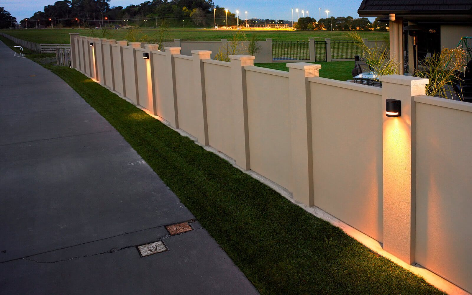 Gallery Modular Walls Fencing Noise Barriers Modularwalls House Fence Design Compound Wall Design Fence Wall Design