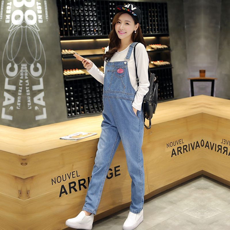 9b93ee09eb2644 2010 Korean spring Maternity denim overalls for mom,pregnant women pants  jump suit/monther
