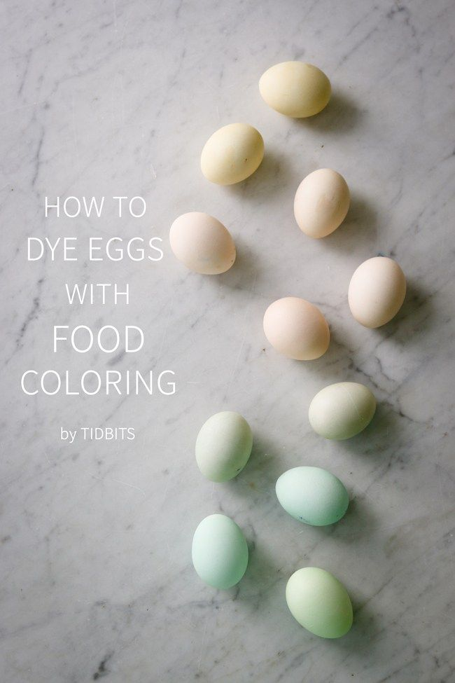 How to Dye Eggs with Food Coloring | Ostern