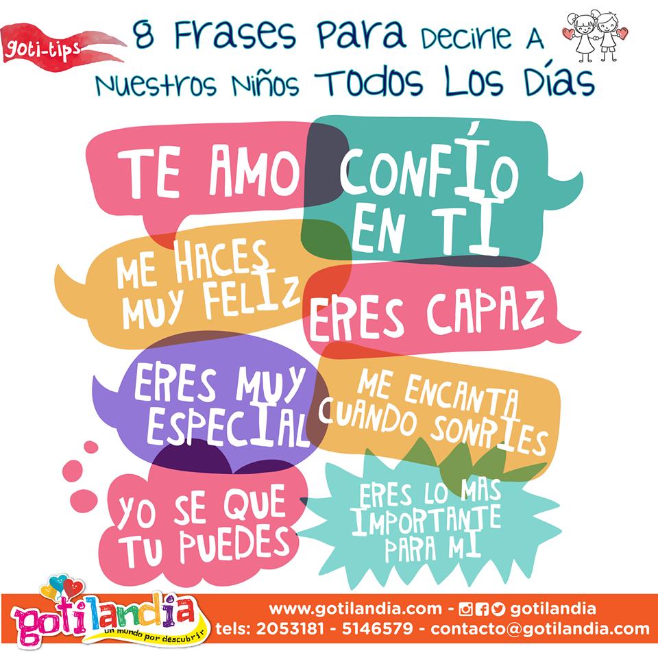 8 Frases Para Decirle A Nuestros Niños Todos Los Dias