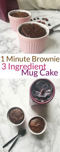 Single Serving 1 Minute Mug Cake Peanut Butter Brownie Recipe | Nourish Your Glow