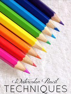 Watercolor pencil techniques