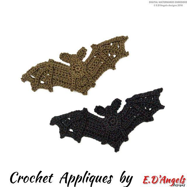 BAT Applique pattern by Elaine D\'Angels | Bebe y Navidad