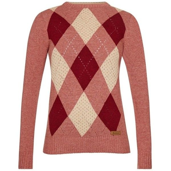 Barbour Brocklane Sweater - Wild Ginger ($120) ❤ liked on ...