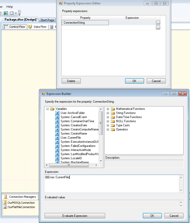 Loop through Flat Files in SQL Server Integration Services