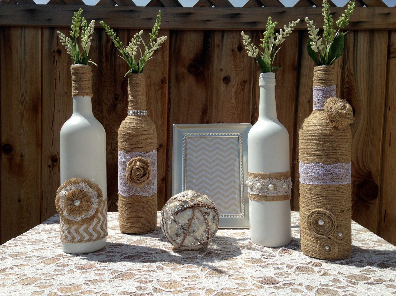 Wedding Centerpieces Vases Shabby Chic Wedding Rustic Decor