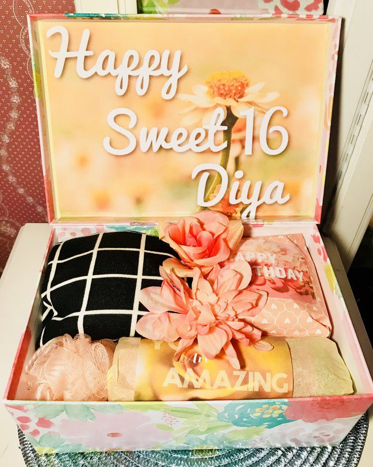Sweet 16 Gift Box From YouAreBeautifulBox 16th Birthday Ideas For Girls Gifts