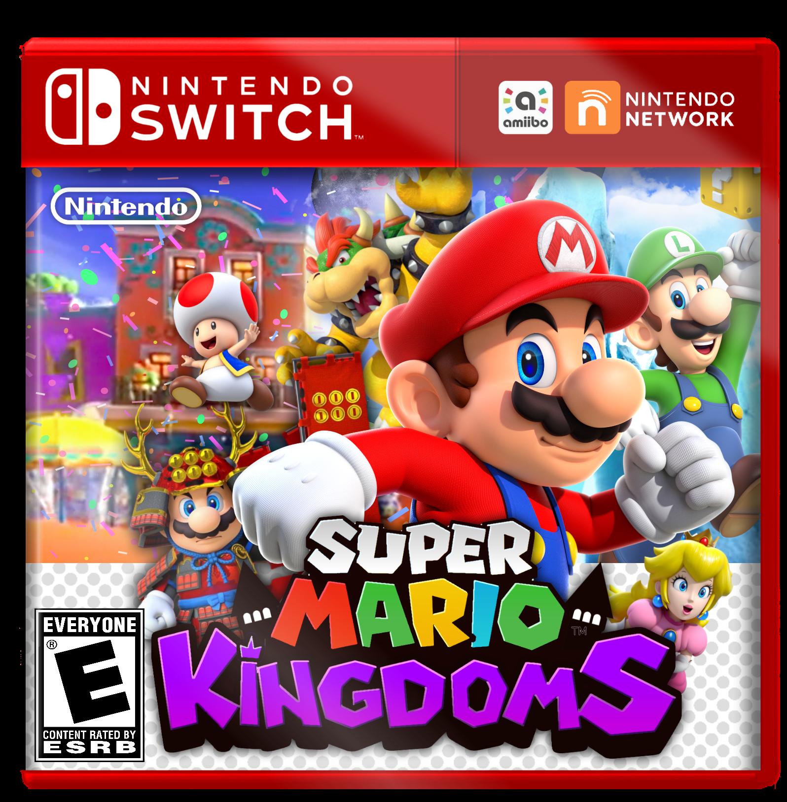 Nintendo Switch Boxart Mock-Up - Super Mario Kingdoms by