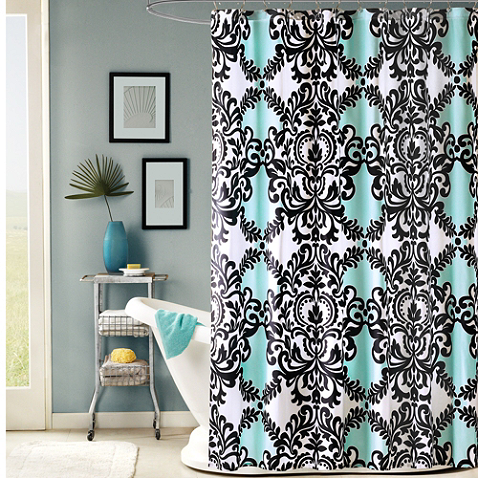 Tiffany Bathroom Black Tiffany Blue And White Towels And Accessories Bathroom Shower Curtainsfabric