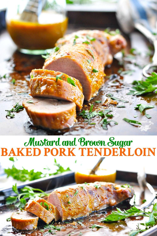 Mustard and Brown Sugar Baked Pork Tenderloin images