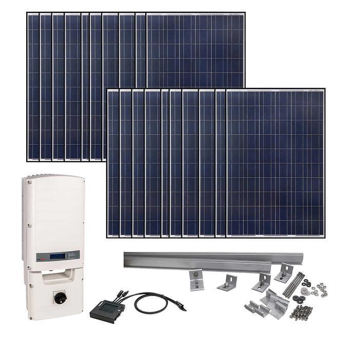 Grape Solar 5830 Watt Grid Tied Solar Kit Best Solar Panels Solar Kit Solar Energy