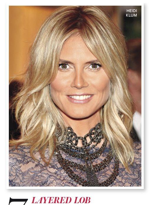 The 50 best celebrity bob lob haircuts frisuren - Naturlocken schulterlang ...