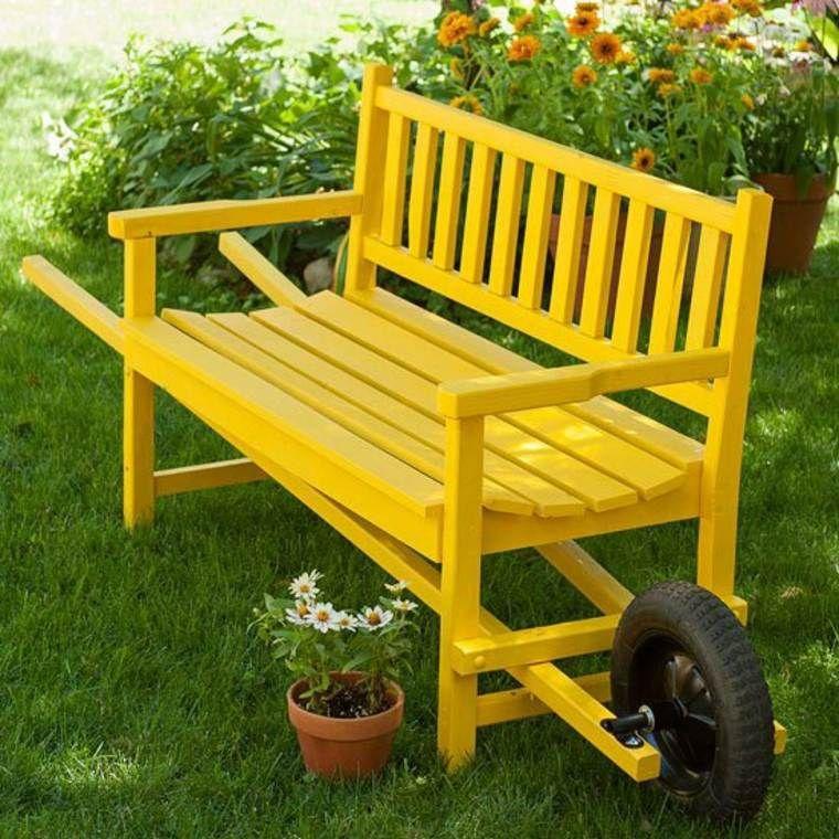 Fabriquer un salon de jardin  24 idées de bricolage pour l\u0027été - plan pour fabriquer un banc de jardin