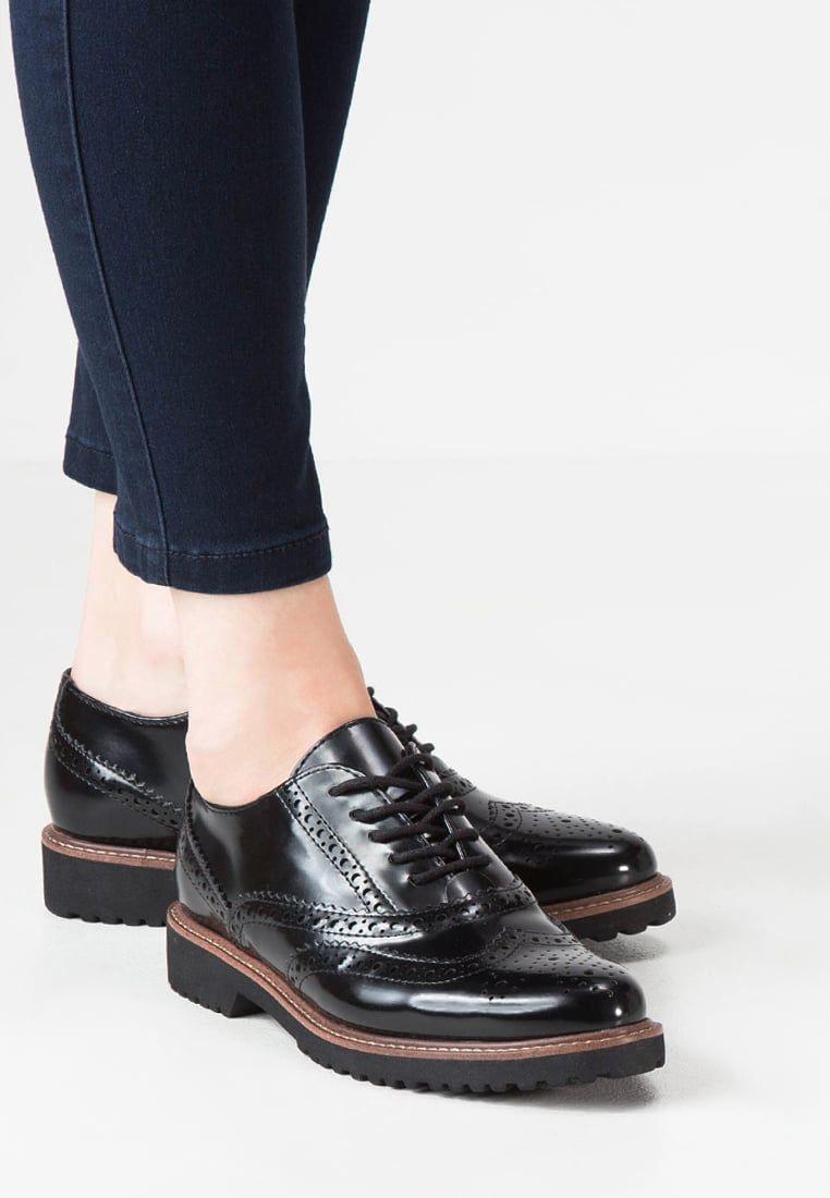 Elegante lage schoenen Marco Tozzi Veterschoenen black