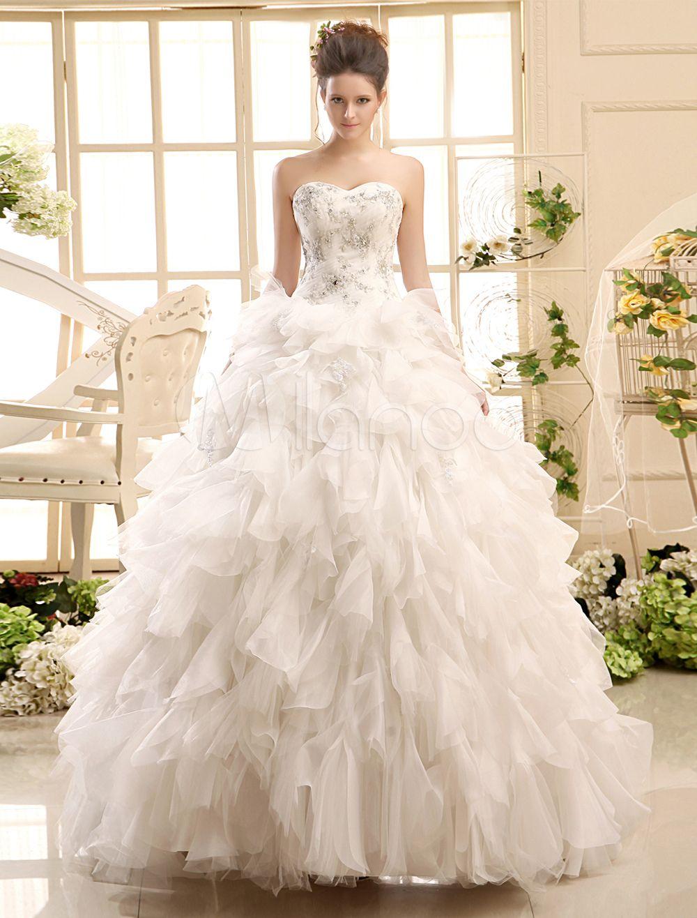 Brautkleid aus Tüll in Elfenbeinfarbe   Tüll und Brautkleid